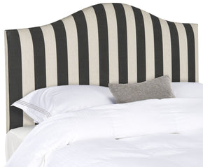 Connie Black & White Stripe Headboard Queen