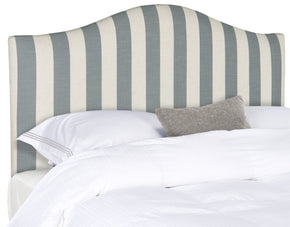 Connie Grey/white Stripe Headboard Queen