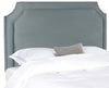 Shayne Wedgewood Blue Headboard - Silver Nail Head Full