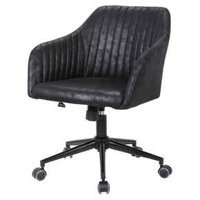 New Pacific Direct 9700019-261 Bologna Fabric Office Chair Lustrous Black