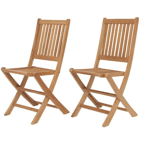 Amazonia Teak London Folding Chairs (Set Of 2) Outdoor Dining Chair