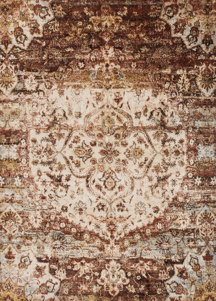 Loloi Rugs Loloi Anastasia Rust / Ivory Area Rug ANASAF-06RUIV2740 | 885369251252| $139.00. Ivory & Whites, Oranges, Rugs, Transitional - . Buy today at http://www.contemporaryfurniturewarehouse.com