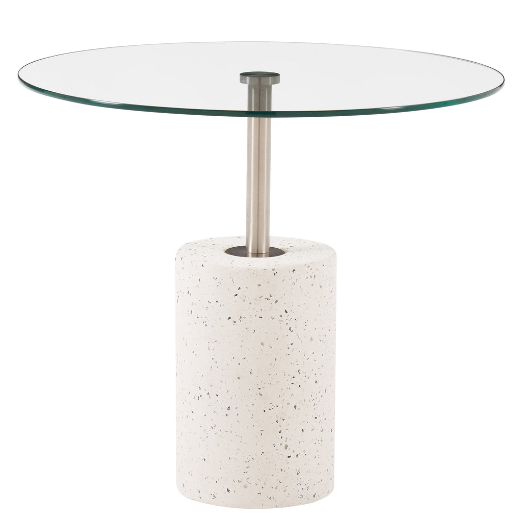 New Pacific Direct 1150004 Sharon EndTable Transparent