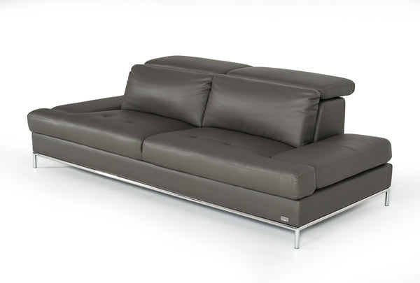 Tremendous Vig Furniture Vgknk8484 Ecogry Izzy Modern Dark Grey Eco Leather Sofa Sale At Contemporary Furniture Warehouse Today Only Gmtry Best Dining Table And Chair Ideas Images Gmtryco