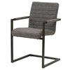 Gerald PU Leather Arm Chair (Set of 2) Kalahari Gray