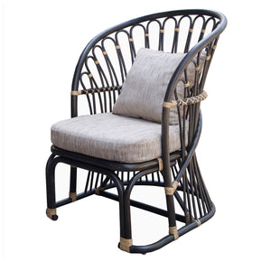 New Pacific Direct 2400017 Meredith Rattan Accent Chair Dark Brown