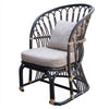 Meredith Rattan Accent Chair Dark Brown