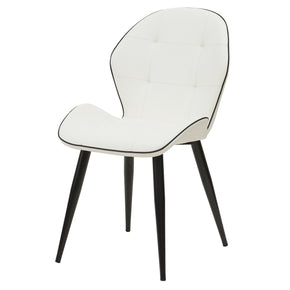 New Pacific Direct 3400029-271 Astrid PU Leather Chair (Set of 2) White