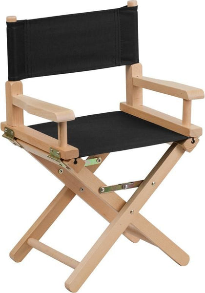 Kid Size Directors Chair In Black Kids Folding