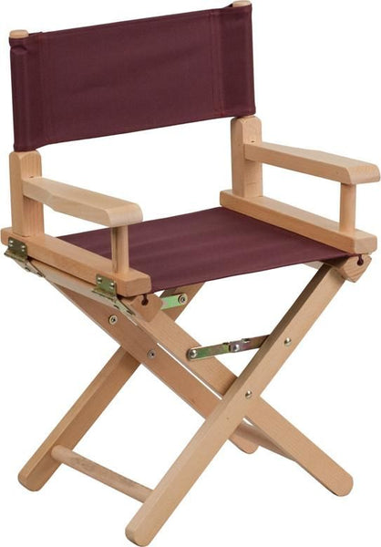 Kid Size Directors Chair In Black Brown Kids Folding