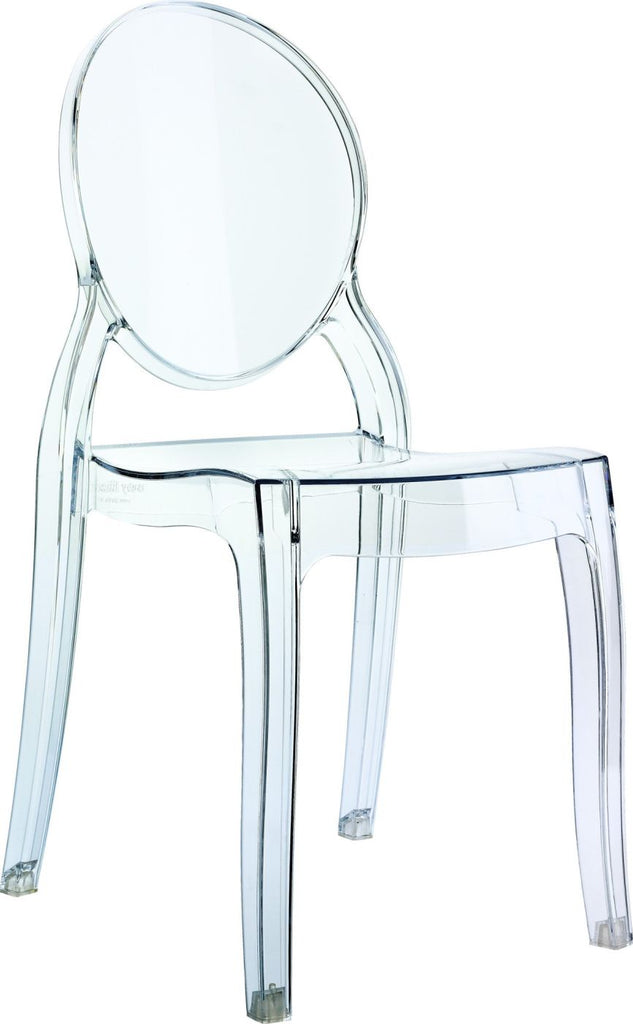 Super Baby Elizabeth Kids Ghost Style Chair Transparent Clear Gmtry Best Dining Table And Chair Ideas Images Gmtryco