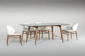 Dining Sets - Vig Furniture VGCS16111-SET Modrest Kipling Modern Walnut Dining Set | Only $3429.80. Buy today at http://www.contemporaryfurniturewarehouse.com