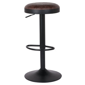 New Pacific Direct 9300035-238 Juno Gaslift Bar Stool (Set of 2) Vintage Coffee Brown