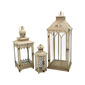 Hathaway Set Of 3 Nesting Lanterns Antique Parchment Lantern