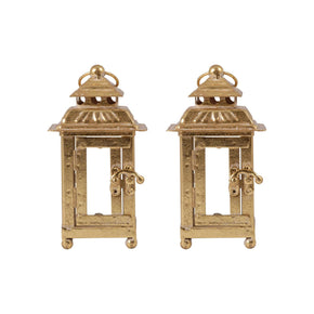 Ellis Set Of 2 Lanterns - Small Artisan Gold Lantern