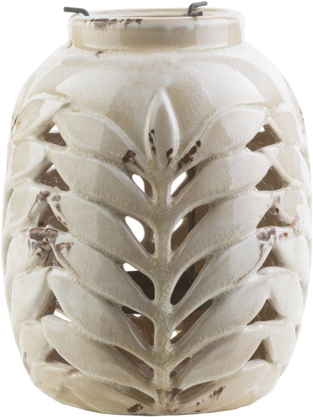 Fern Contemporary Lantern Ivory