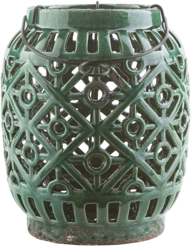 Killian Contemporary Lantern Emerald/kelly Green Forest