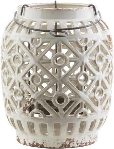 Killian Contemporary Lantern Ivory Gray