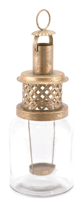 Steam Lantern Lg Antique Gold