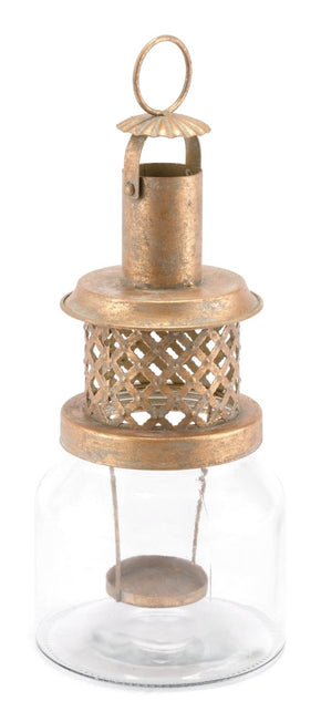 Steam Lantern Small Antique Gold