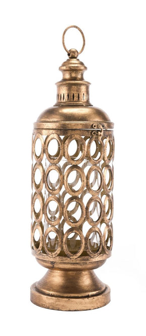 Circles Lantern Small Antique Gold