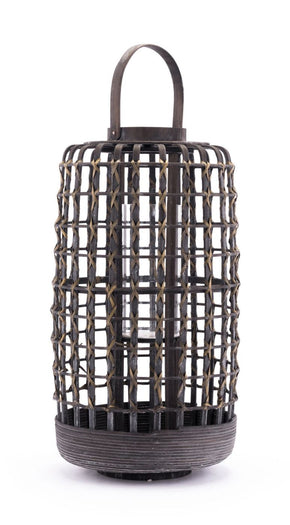 Bamboo Lantern Small Gray