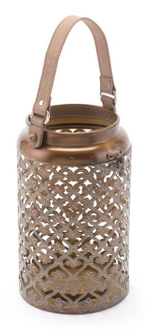 Moroccan Lantern Small Distressed Copper