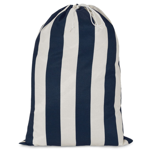 Navy Blue Vertical Stripe Laundy Bag Laundry