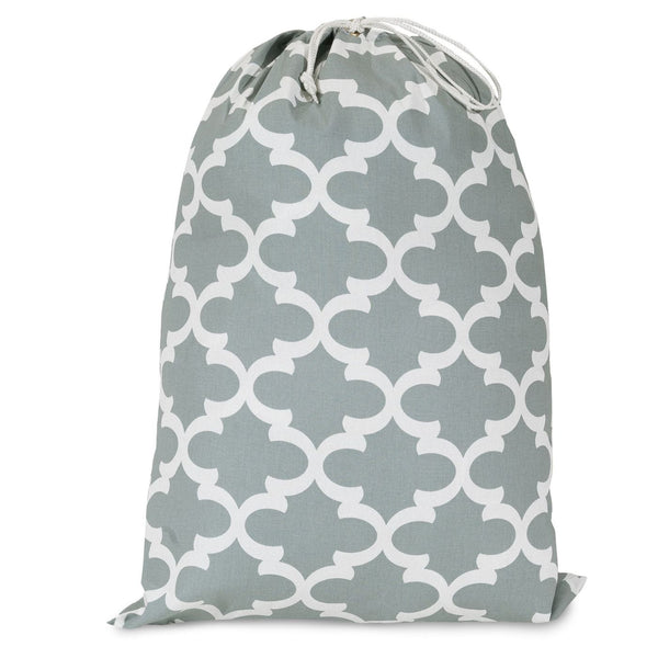 Gray Trellis Laundry Bag