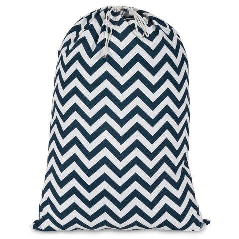 Navy Chevron Laundry Bag