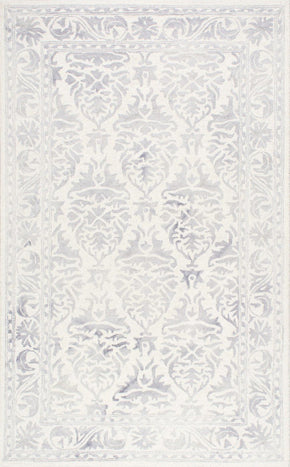 Nuloom Hand Looped Krause Light Grey Rug