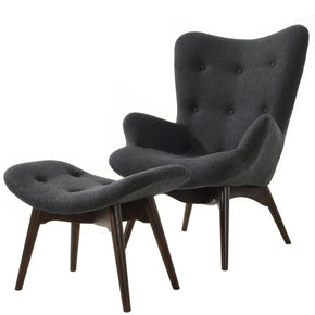 Auzzie Lounge Chair And Ottoman In Grey