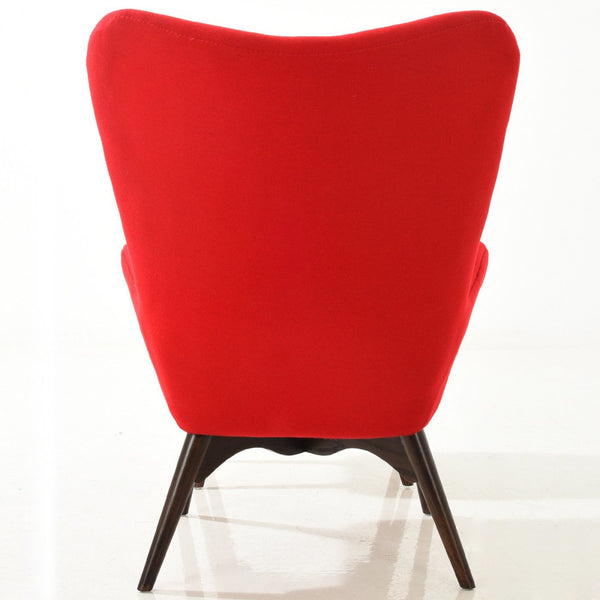 Auzzie Lounge Chair And Ottoman In Red