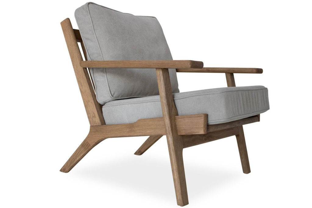 Buy Edloe Finch EF Z2 LC006 Beckett Mid Century Modern Lounge Chair Beige  Linen At Contemporary Furniture Warehouse