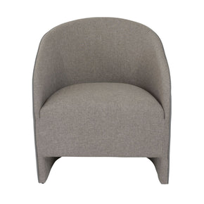 Fela Lounge Chair In Dark Gray Leatherette And Fabric