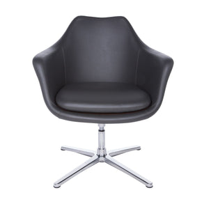 Lounge Chairs - Euro Style EURO-90450DKGRY Giovana Lounge Chair in Dark Gray and Polished Aluminum | 727511952351 | Only $513.98. Buy today at http://www.contemporaryfurniturewarehouse.com