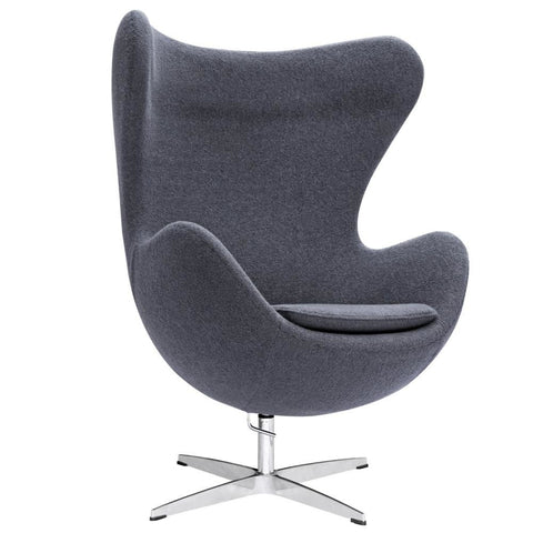 Inner Chair Fabric Gray Lounge
