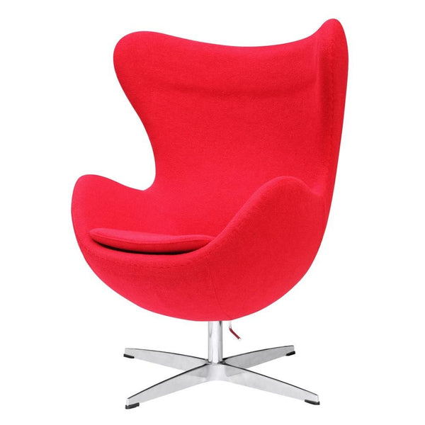 Inner Chair Fabric Red Lounge