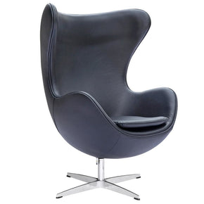 Inner Chair Leather Black Lounge