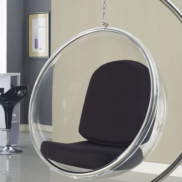 ... Modway Ring Clear Acrylic Hanging Lounge Chair White, Black Or Silver  EEI 111  ...
