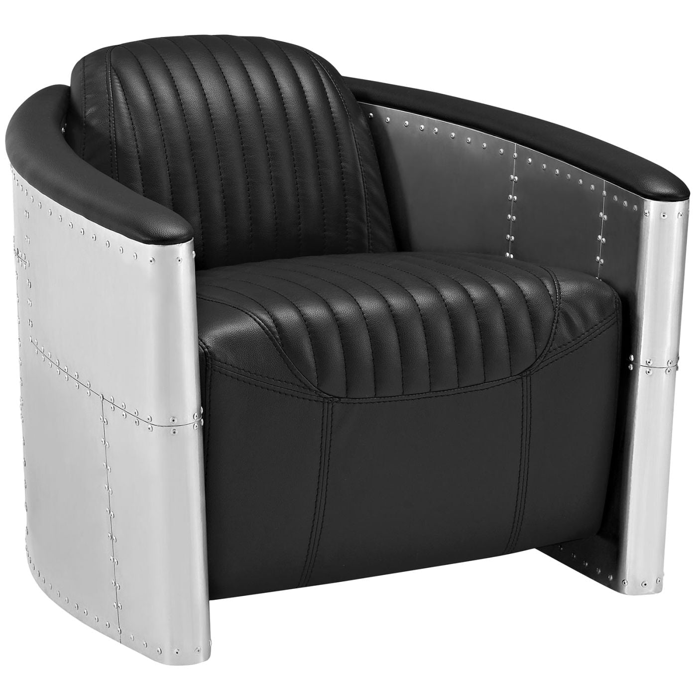 Visibility Upholstered Faux Leather Lounge Chair Brown Visibility  Upholstered Faux Leather Lounge Chair Black ...