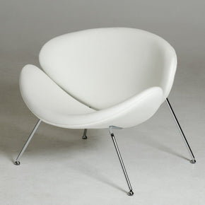 Modrest Anais Contemporary White Leatherette Accent Chair Lounge