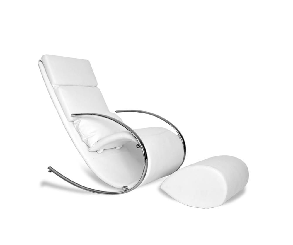 Incredible Buy Whiteline Rc1028P Wht Chloe Rocker Chair Ottoman White Eco Leather Chrome Frame At Contemporary Furniture Warehouse Pabps2019 Chair Design Images Pabps2019Com
