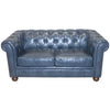 Loveseats - Armen Living LC10602ATBL Winston Antique Blue Bonded Leather Loveseat | 700220756656 | Only $1138.00. Buy today at http://www.contemporaryfurniturewarehouse.com
