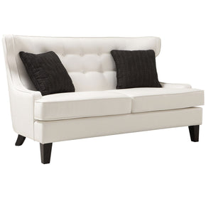 Skyline Loveseat In White Bonded Leather