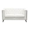 Chelsea Leatherette Love with Metal Leg - White