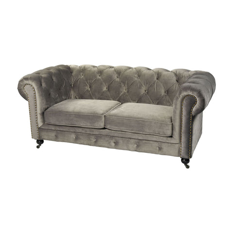 Gypsy Two Seater Sofa Grey Loveseat