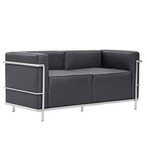 Grand Lc3 Loveseat Black
