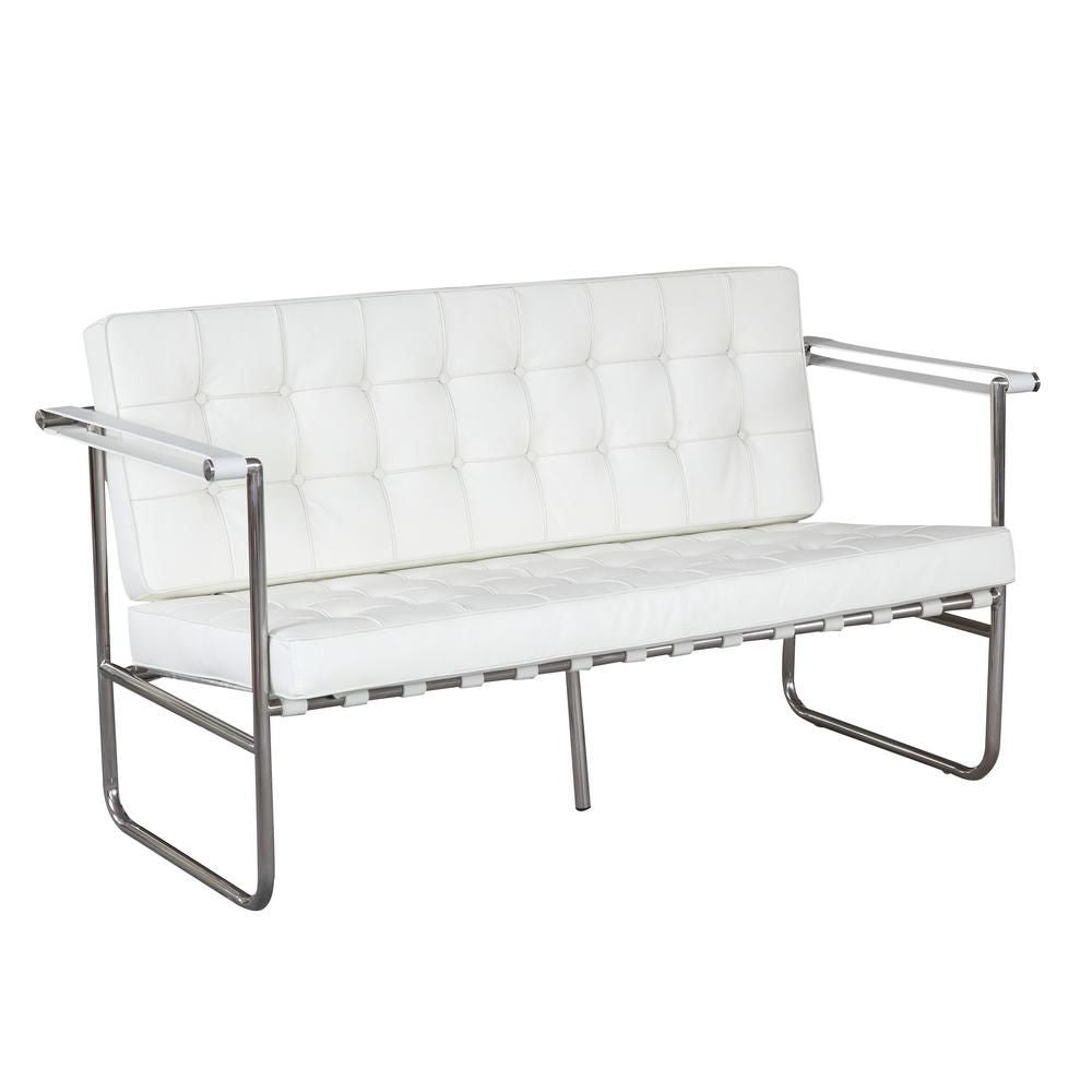 Celona Loveseat White