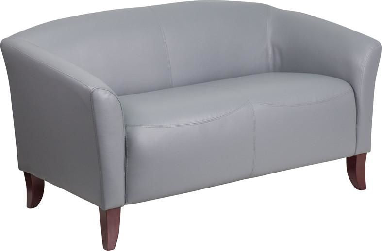 Loveseats - Flash Furniture 111-2-GY-GG Imperial Series Leather Loveseat | 889142059974 | Only $469.80. Buy today at http://www.contemporaryfurniturewarehouse.com